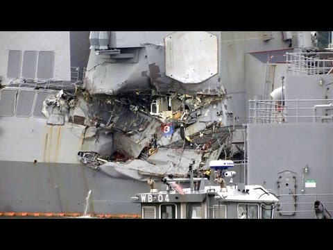 Thumbnail: Bodies of USS Fitzgerald crewmembers found