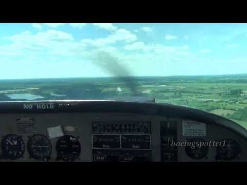 Visual approach & landing @ CYRP in a Grumman American AA-5A | HD