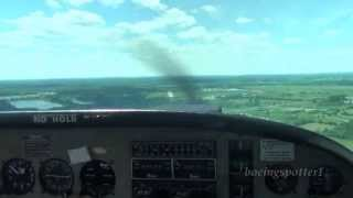Visual approach & landing @ CYRP in a Grumman American AA-5A | HD