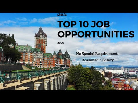 Top 10 Job Vacancies In Canada 2020