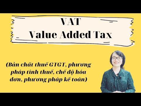 Thuế Giá trị gia tăng (VAT) được hiểu như thế nào?