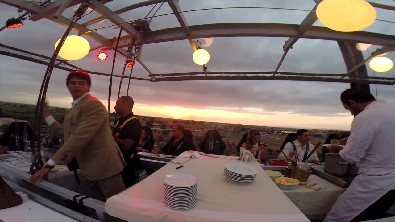 Dinner In The Sky At Four Seasons Resort Marrakech YouTube - Dinner in the sky an unforgettable experience