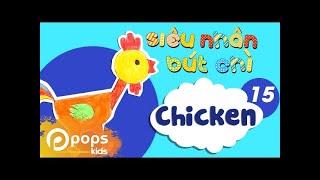 Hướng Dẫn Vẽ Con Gà - Siêu Nhân Bút Chì - Tập 15 - How To Draw A Chicken