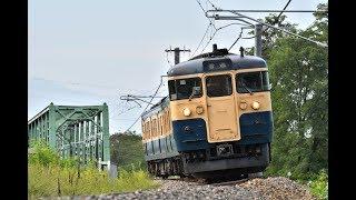 篠ノ井線 しなの鉄道 115系 S16編成スカ色 安茂里にて 20180906