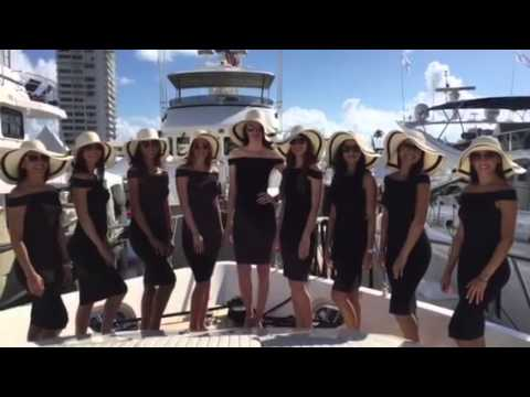 Ciao Bella Agency hostesses at Fort Lauderdale Yacht Show