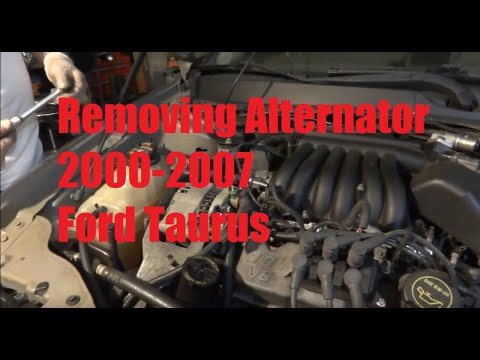 2000 ford taurus alternator wiring diagram 2000 2007 ford taurus how to remove alternator youtube  2000 2007 ford taurus how to remove