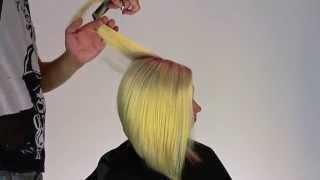 Free Hand bob silhuet Haircut