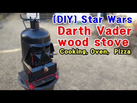 [DIY] Darth Vader Wood Stove (Cooking, Oven,  Pizza)