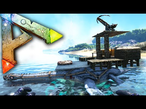 Ark Survival Evolved Ep20 - BATTLE SHIP! - Ballista Plesi Platform Saddle Base Gameplay