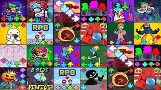 FNF Mod Music,Music battle vibin' mod,FNF Vs Tricky & Emoji,Music party tord,Senpai+Monika mod