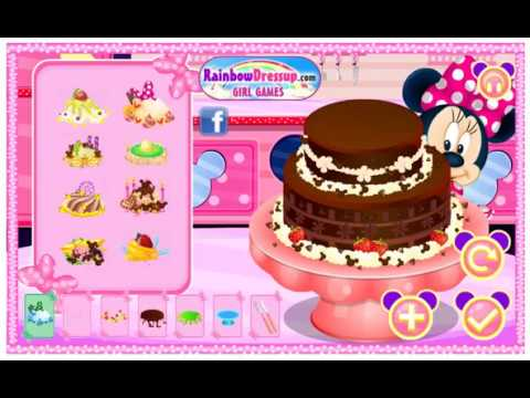 Disney Minnie mouse baking cake ~ games for girls ~ games ...