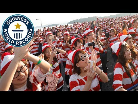 Largest gathering of people dressed as Wally/Waldo – Guinness World Records