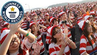 Largest gathering of people dressed as Wally/Waldo - Guinness World Records
