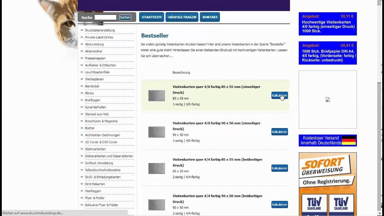 Www Druckmitunsshop De Drucksachen Einfach Online Bestellen