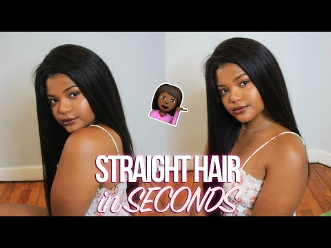 SILKY STRAIGHT HAIR IN SECONDS!