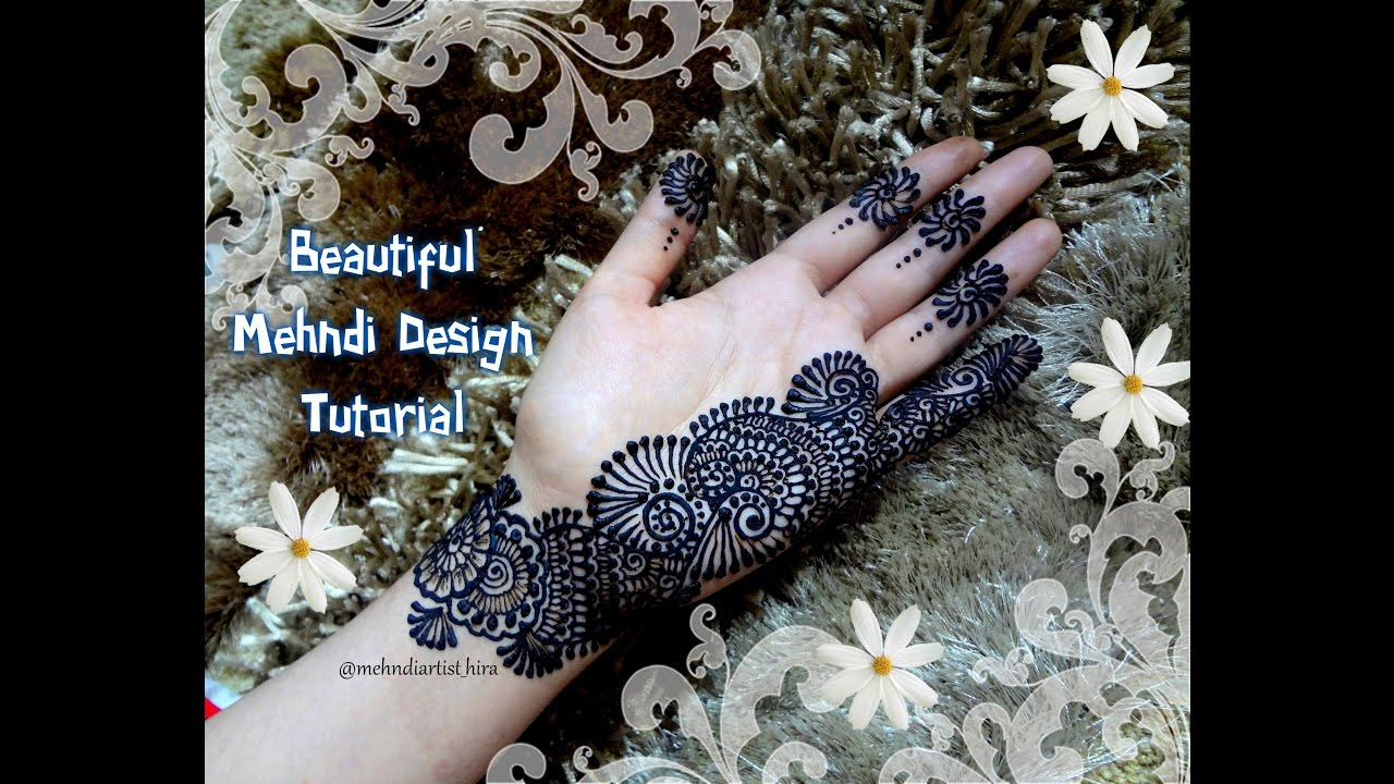 Easy simple beautiful palm henna mehndi designs for hands Tutorial for  diwali and Eid,weddings