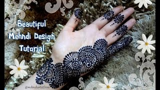 Easy Simple Beautiful Palm Henna Mehndi Designs For Hands Tutorial