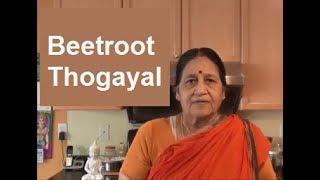 Beetroot Thogayal in Tamil