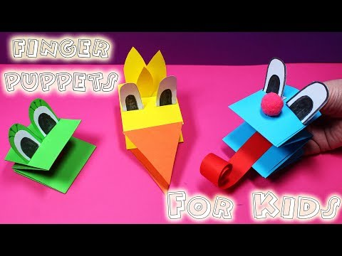 Cute Paper Puppets - How To Make Puppets For Kids