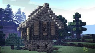 Minecraft | simple first night medieval house