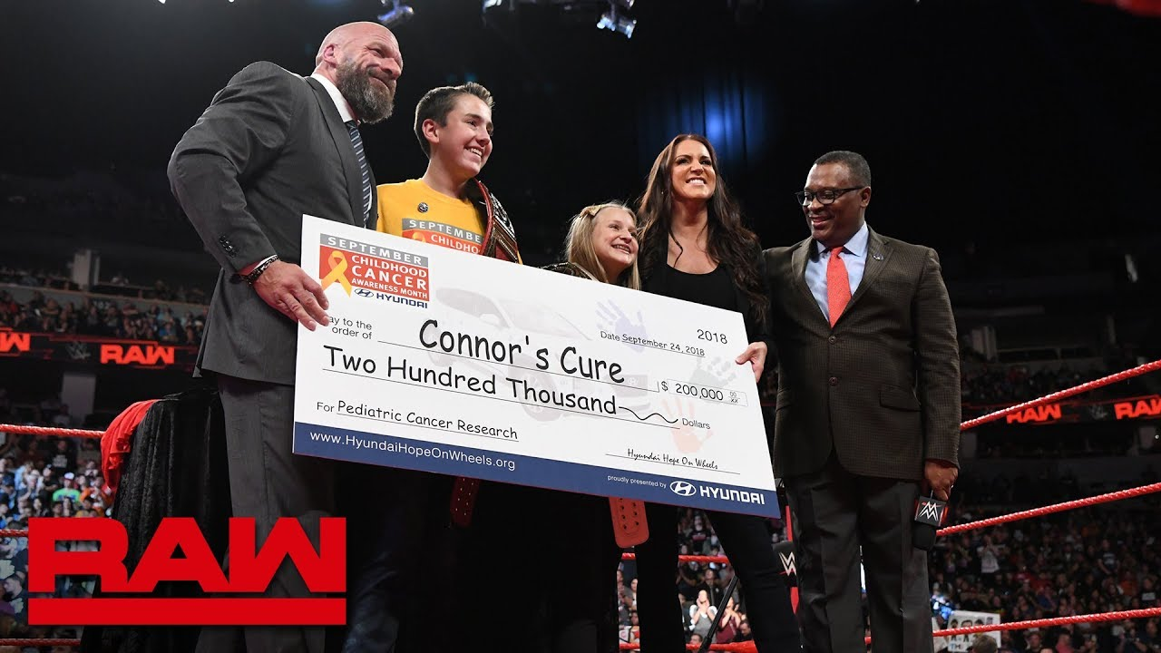 WWE & Connor's Cure team with Hyundai Hope on Wheels to battle pediatric cancer: Raw, Sept. 24, 2018