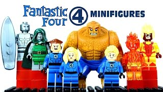 LEGO Fantastic Four KnockOff Minifigures Set 3 w/ Silver Surfer Mr. Fantastic & Invisible Woman