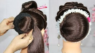 latest juda hairstyle with trick    updo hairstyles    bun hairstyle    new hairstyles    hairstyle