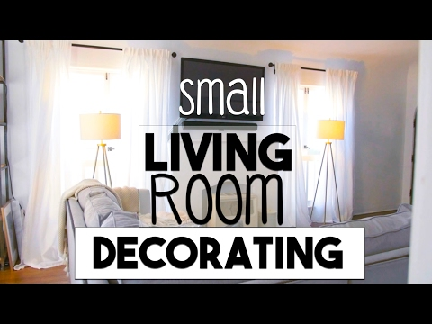 Small Space Decorating! | Making the Most of Our Small LIVING ROOM!