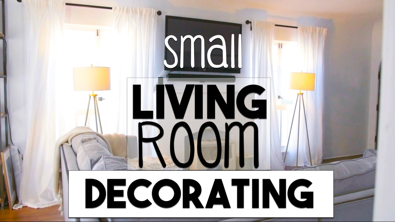 INTERIOR DESIGN: Small Space Decorating! | Making The Most Of Our Small  LIVING ROOM!   YouTube