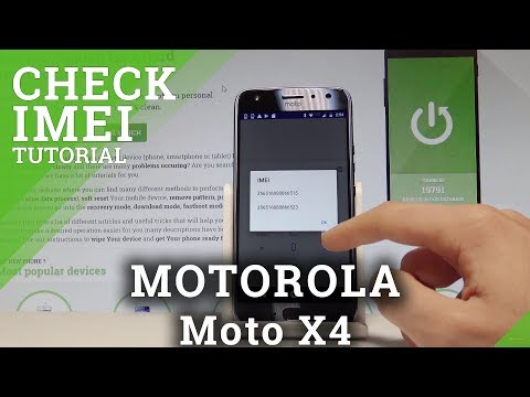 How to Check IMEI on MOTOROLA Moto X4 - Serial Number Access