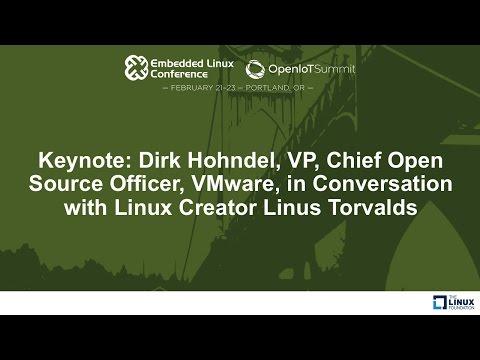 Keynote: Dirk Hohndel, VP, VMware, in Conversation with Linux Creator Linus Torvalds