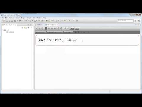 Java FX HTML Editor In Eclipse!