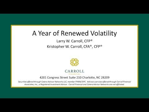 A Year of Renewed Volatility
