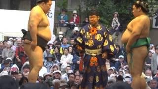 20160418 靖國神社奉納相撲 嘉風vs豪栄道.