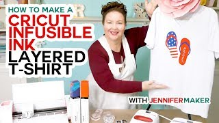 Cricut Infusible Ink Layered T-Shirt Tutorial - Full Process!