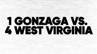 (1) Gonzaga vs. (4) WVU