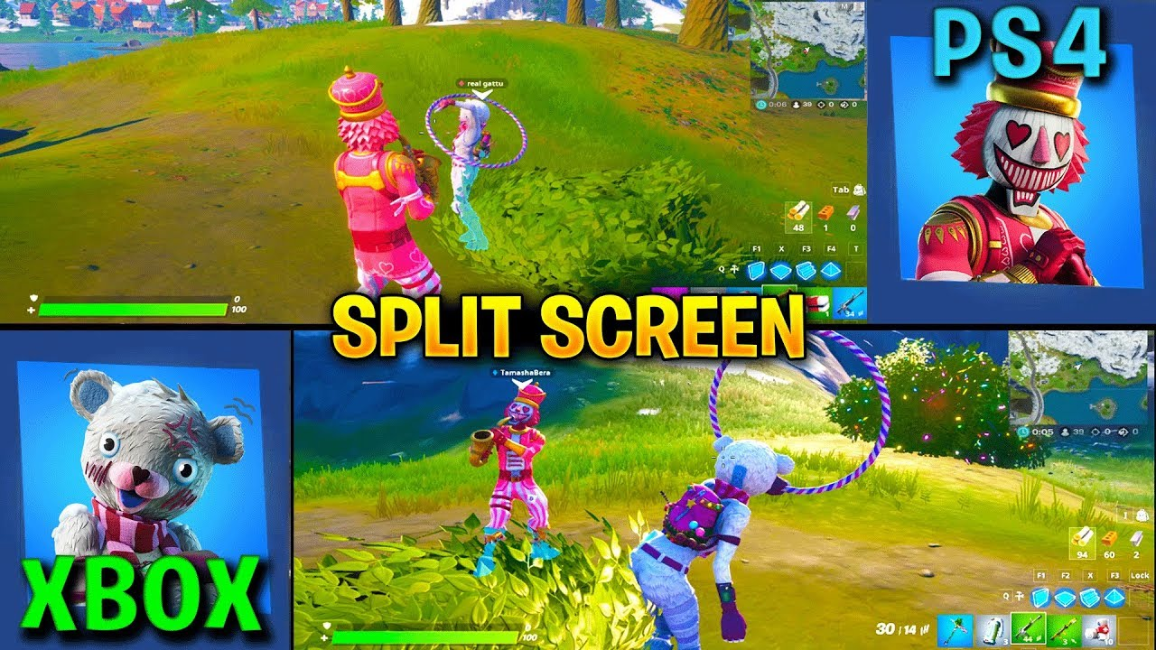 HOW TO SPLIT SCREEN IN FORTNITE TUTORIAL! (PS4 & XBOX ONE ...