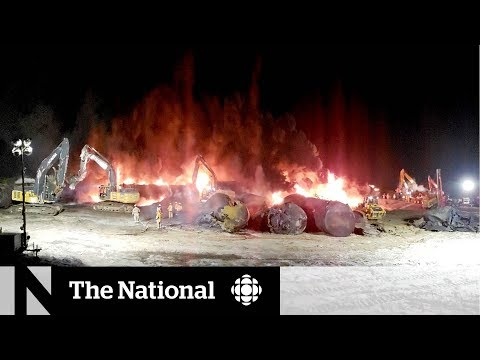 CBC News: The National: New safety measures didn't prevent oil spill, fire in Sask. derailment