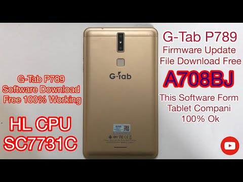 G-Tab P789 Firmware Update File Download Free A708BJ SC7731C G-Tab P789 Software File Download Free