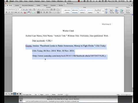 MLA Citation & in Text Citation with Web Source