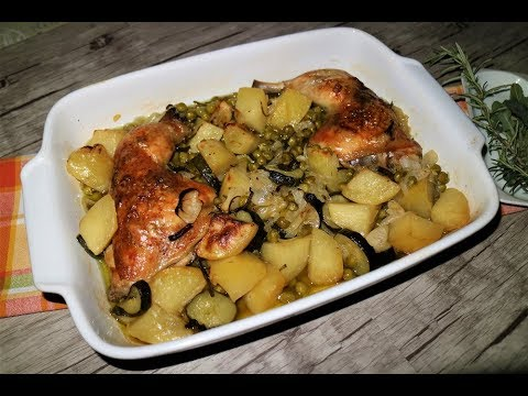 Ricetta Pollo e patate al forno - Cucchiaio d'Argento