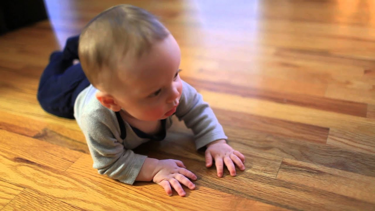 Baby man liam crawling on hardwood floors clip 2 youtube for Hardwood floors and babies
