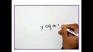Happy international Yoga day / Turn words into pictures
