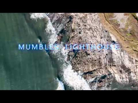 Swansea Drone Footage - Mumbles Lighthouse