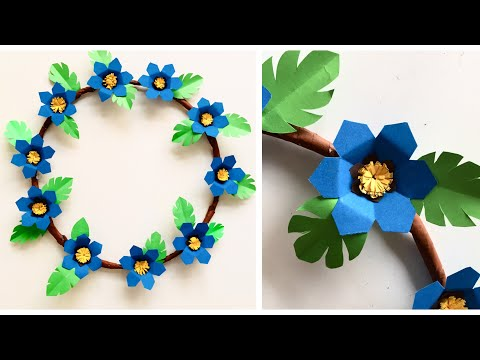 Paper Flower Wall Hanging | Floral Wall Hanging Decor | Home Decor