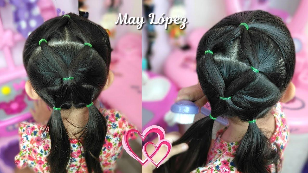 Peinado Facil Y Rapido Con Ligas Para Nina May Lopez