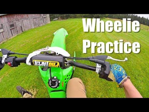Pit Bike Jumping & Wheelie Practice