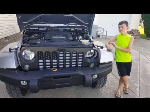 Jeep Wrangler American Flag Grill Insert Install Freedom Edition