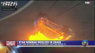 Ryan Newman in serious condition after fiery crash at finish