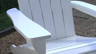 Shoreline Deluxe Adirondack Chair And Table Set White - Product Review Video